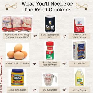 2 - Fried Chicken Ingredients