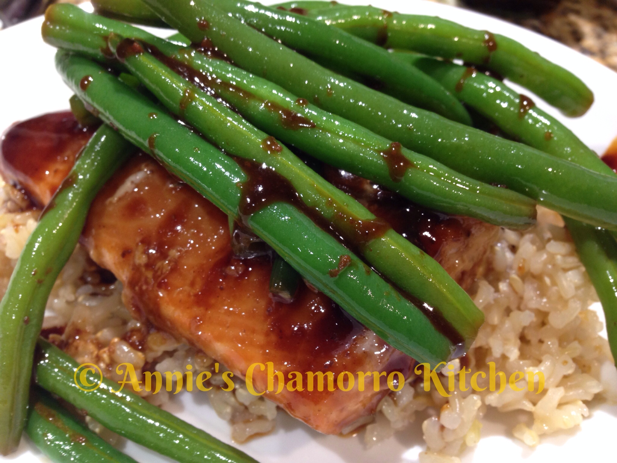 glazed salmon with sesame green beans orange five spice glazed salmon ...