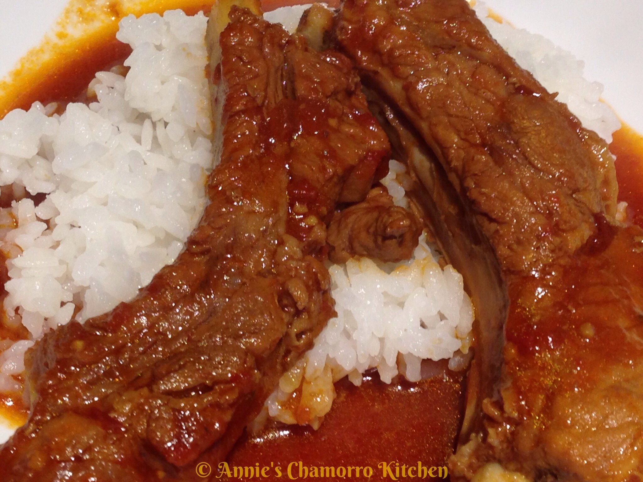 Tomato Braised Pork Ribs Annie S Chamorro Kitchen