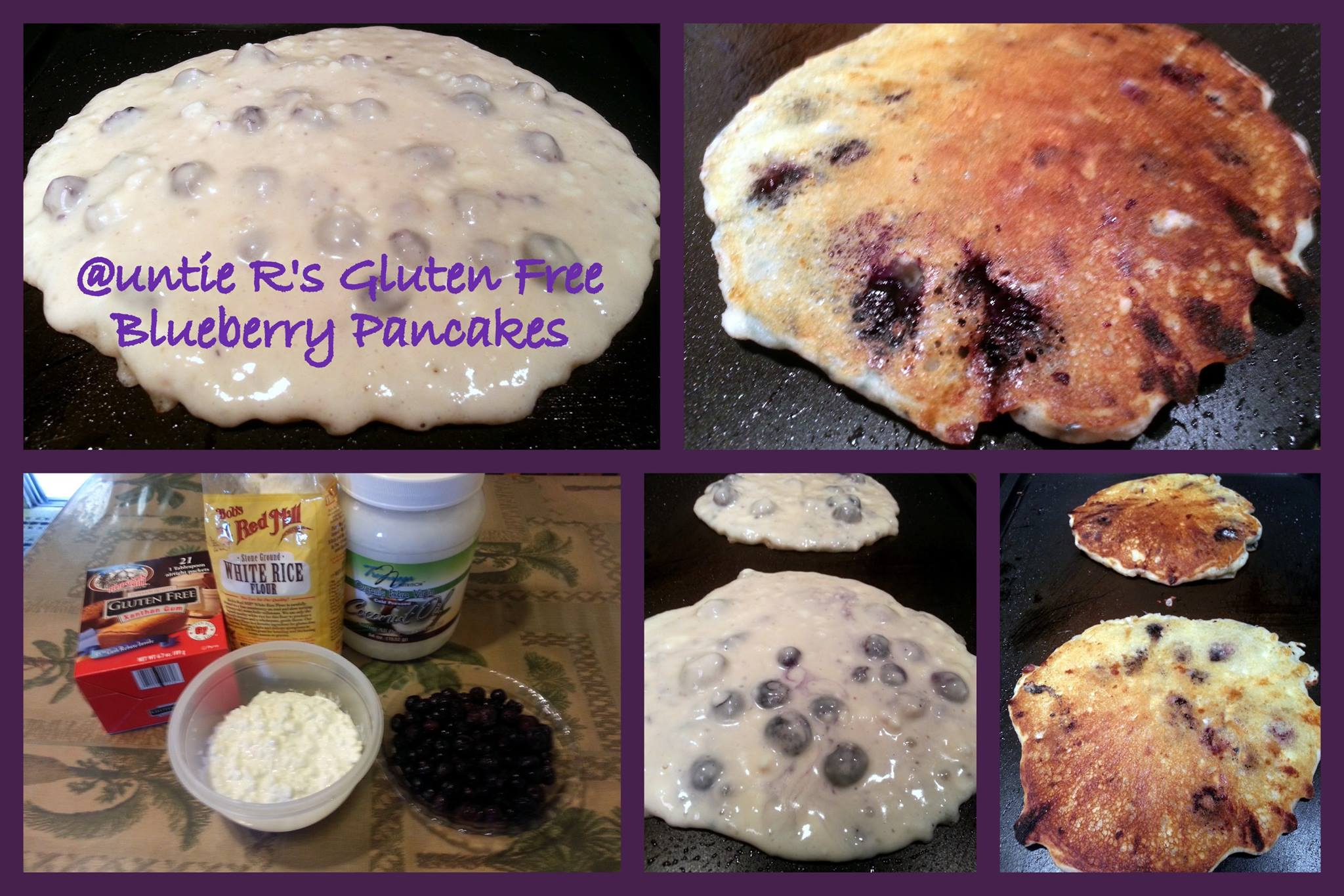 Gluten Free Blueberry Cheese Pancakes