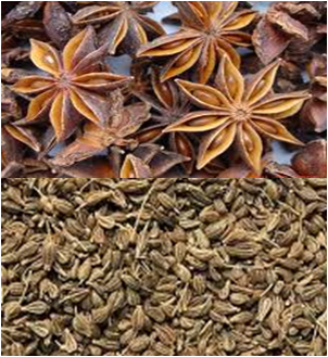 Anise seed and star anise
