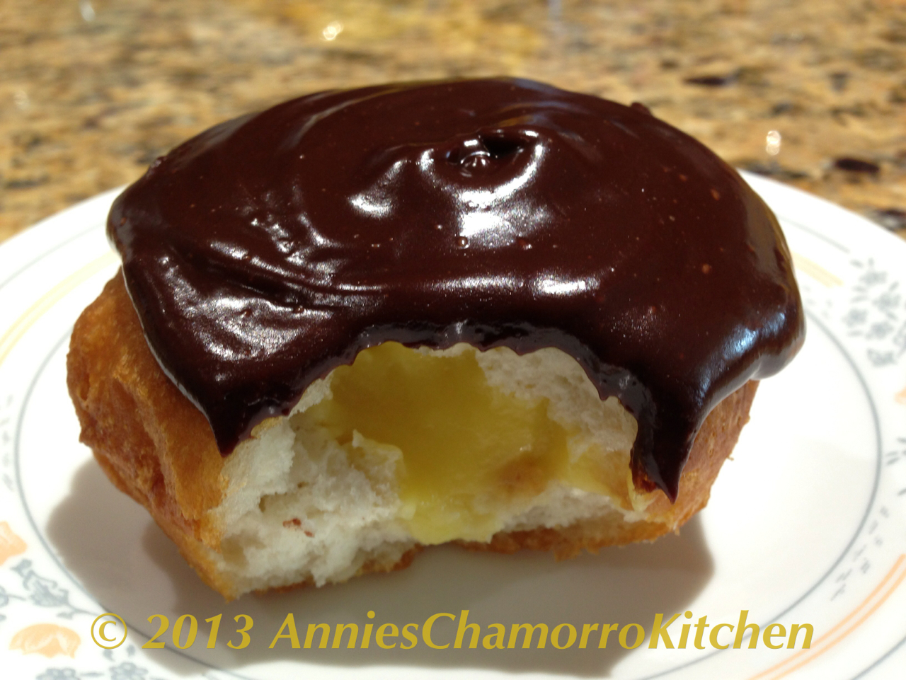 Fried Boston Cream Pie Donuts | Annie's Chamorro Kitchen