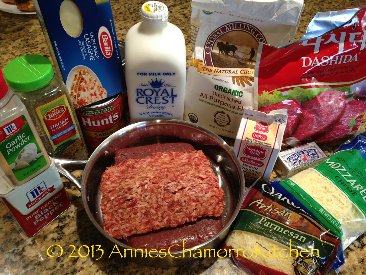 Lasagne al Forno ingredients